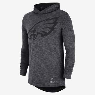 Nike NFL Eagles) Men's Hooded Long Sleeve Top