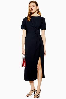 2172c75a3ae3 Topshop Womens Navy Midi Dress - Navy Blue