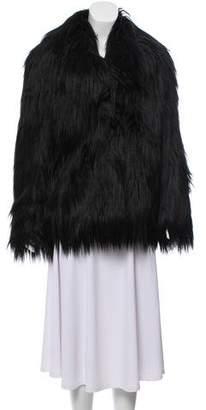 Stella McCartney Structured Faux Fur Coat