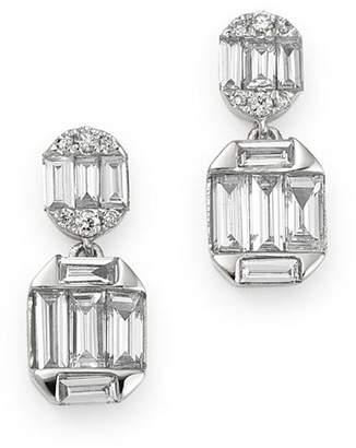 Bloomingdale's Diamond Baguette Drop Earrings in 14K White Gold, 0.60 ct. t.w. - 100% Exclusive