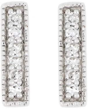 Carriere Sterling Silver Diamond Bar Earrings - 0.05 ctw