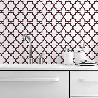 Lime Lace Oriental Two Kitchen Walls Backsplash Wallpaper