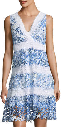 T Tahari Raya Striped Lace A-line Dress $139 thestylecure.com