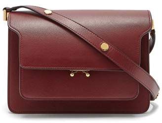 Marni - Trunk Medium Saffiano Leather Bag - Womens - Burgundy