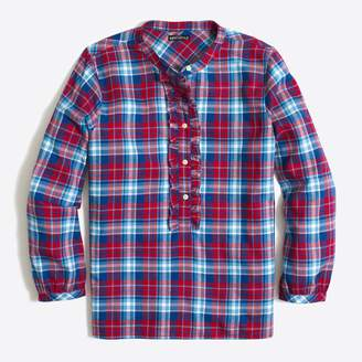 J.Crew Factory Ruffle flannel shirt