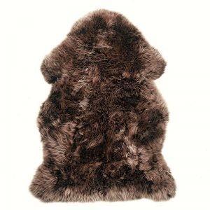 Hanlin - Reg Silky Sheepskin Rug Chocolate - Brown