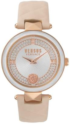 Versace Covent Garden Leather Strap Watch