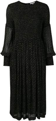 Ganni mullin georgette smock dress