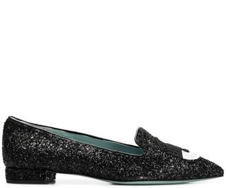 Chiara Ferragni glittered loafers