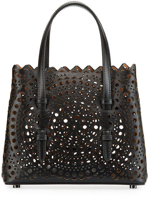 Alaia Micro New Vienne Laser-Cut Leather Tote Bag