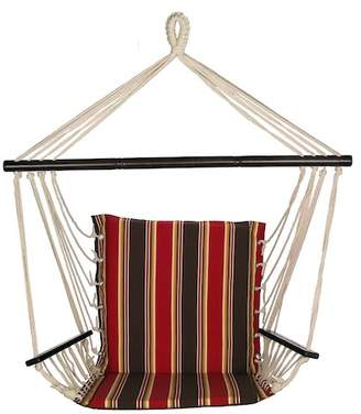 Bliss Hammocks Reversible Metro Chair - Brown/Red Stripe