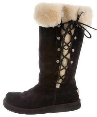UGG Australia Shearling Lace-Up Boots $125 thestylecure.com
