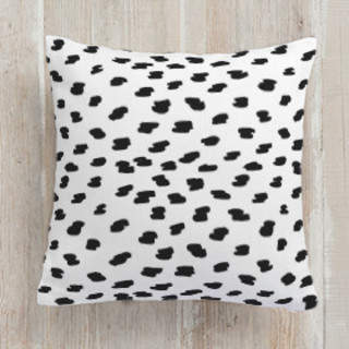 Brushed Spots Square Pillow