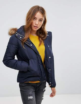 Lee Puffer Jacket With Sherpa Lined Hood