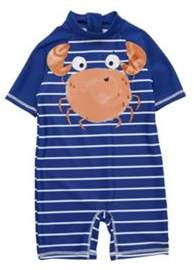 F&F Striped Crab Applique Sunsafe Surfsuit 3-4 years