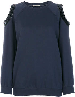 Nina Ricci cut-out sequin detail sweater