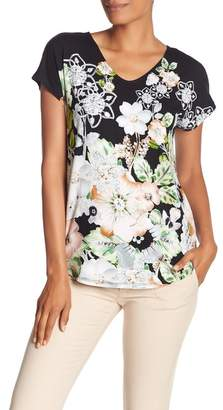 Catherine Malandrino V-Neck Printed Top