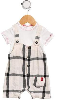 Jean Bourget Infants' Plaid Short Sleeve All-In-One