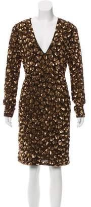 Alice + Olivia Sequin Midi Dress