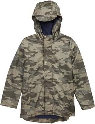 Joules Camo Waterproof Rubber Raincoat