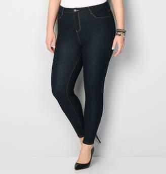 Avenue 5 Pocket Knit Legging Jean in Rinse