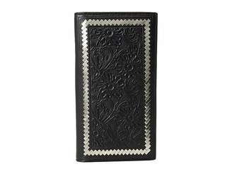 Ariat Steel Lacing Tooled Rodeo Wallet