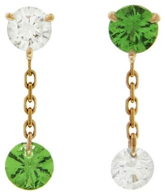 Raphaele Canot Set Free Tsavorite Mismatch Stud Earrings