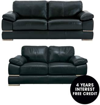 At Littlewoods Primo Italian Leather 3 Seater 2 Sofa Set