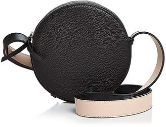 Aqua Small Round Leather Crossbody - 100% Exclusive