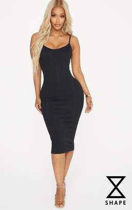 PrettyLittleThing Shape Black Bandage Midi Dress