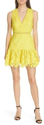 Alice + Olivia Marleen Fit & Flare Lace Dress
