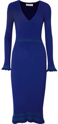 Altuzarra Isolde Ribbed-knit Midi Dress - Blue