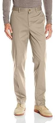 Louis Raphael s Men's Flat Front Cotton Blend Pant with Comfort Waistband