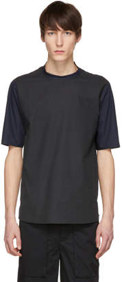 Stephan Schneider Black and Navy Mix Bubbly T-Shirt