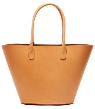 Mansur Gavriel Triangle Leather Tote - Womens - Tan