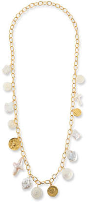 Nest Jewelry Long Chain Coin Charm Necklace