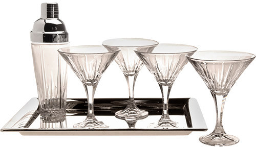 Shannon Crystal Ingrid 6 Piece Martini Set