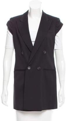 Max Mara Double-Breasted Wool-Blend Vest
