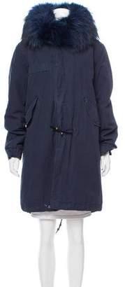 Mr & Mrs Italy Fur-Trimmed Coat