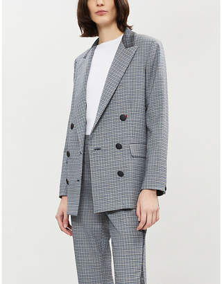 Rag & Bone Ellie double-breasted checked wool-blend twill blazer