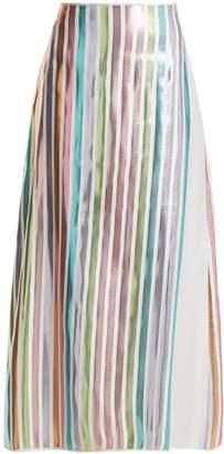 CARL KAPP Spring metallic-striped skirt