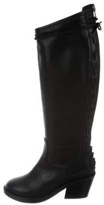 Haider Ackermann Leather Mid-Calf Boots Black Leather Mid-Calf Boots