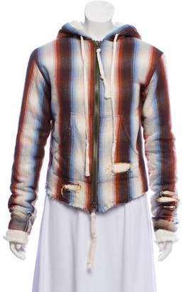 Greg Lauren Zip-Up Baja Hooded Sweater w/ Tags
