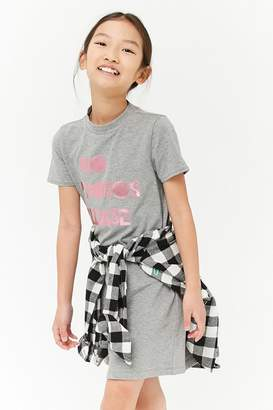 Forever 21 Girls No Photos Graphic T-Shirt Dress (Kids)