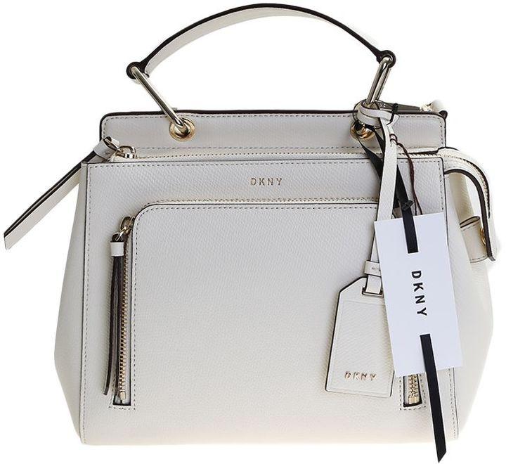 DKNYWhite Leather Bryant Park Mini Bag