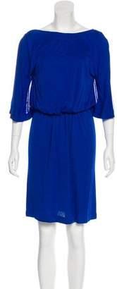 Vionnet Butterfly Sleeve Knee-Length Dress