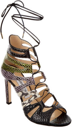 Jimmy Choo Hitch 100 Leather Strappy Heeled Sandal