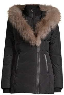Mackage Women's Adali-X Fox Fur Collar Down Coat - Ink - Size Small