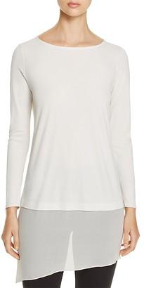 Eileen Fisher Layered-Hem Silk Tunic $268 thestylecure.com
