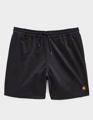 c251171f48 Carhartt Wip Chase Poly Swim Trunk in Black/Gold